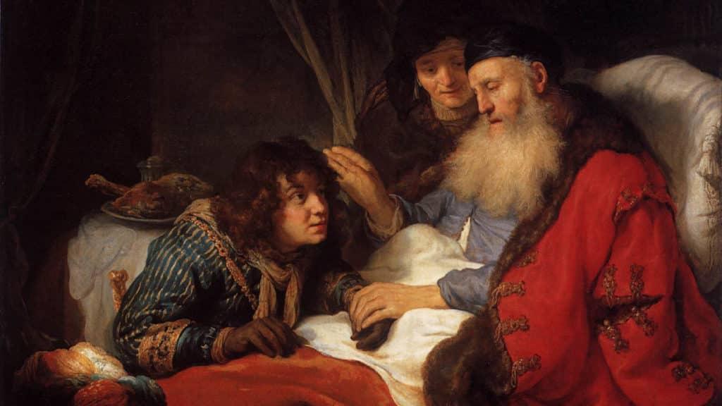 Netivyah | Vayetze | Isaac blessing Jacob. Govert Flinck (1615–1660)