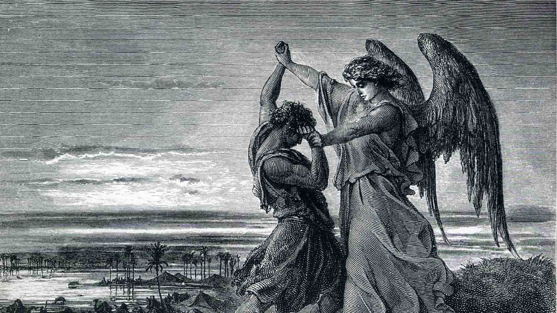 Netivyah | Parashat Vayishlach | Jacob Wrestles with the Angel, Gustave Doré (1832–1883)