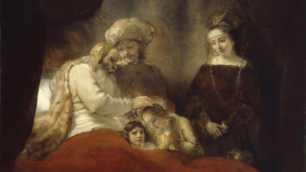 Netivyah | Parashat Vayigash | Jacob blessing Ephraim and Manasseh, Rembrandt (1656)