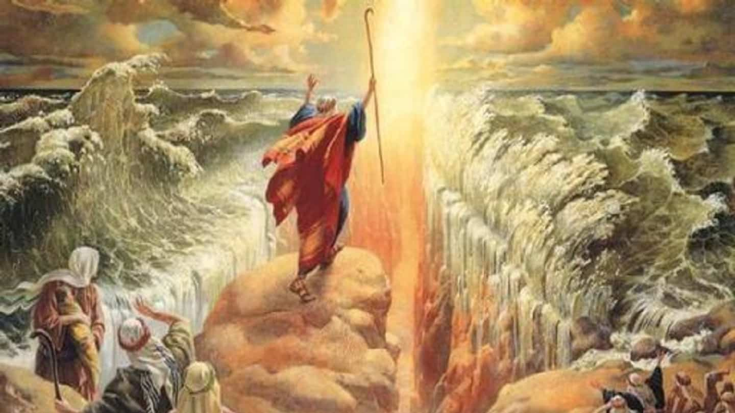 Netivyah   Parashat Beshalach   Moses parting the Red Sea