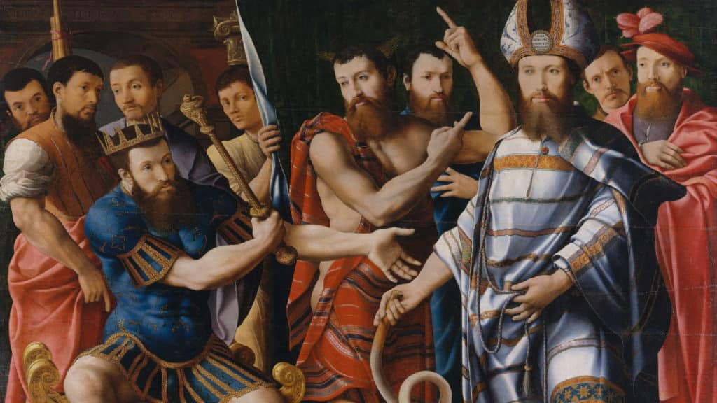 Netivyah | Parashat Vaera | Moses and Aaron before Pharaoh: An Allegory of the Dinteville Family (1537)