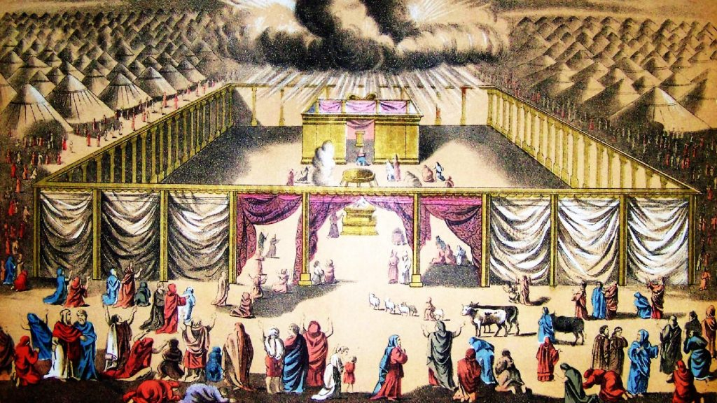 Netivyah | Parashat Terumah | An illustration of the Tabernacle from the Holman Bible (1890)