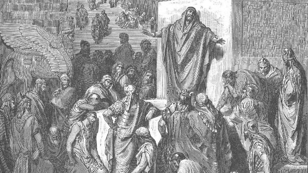 Netivyah | Haazinu | Jonah Preaching to the Ninevites (1866) by Gustave Doré