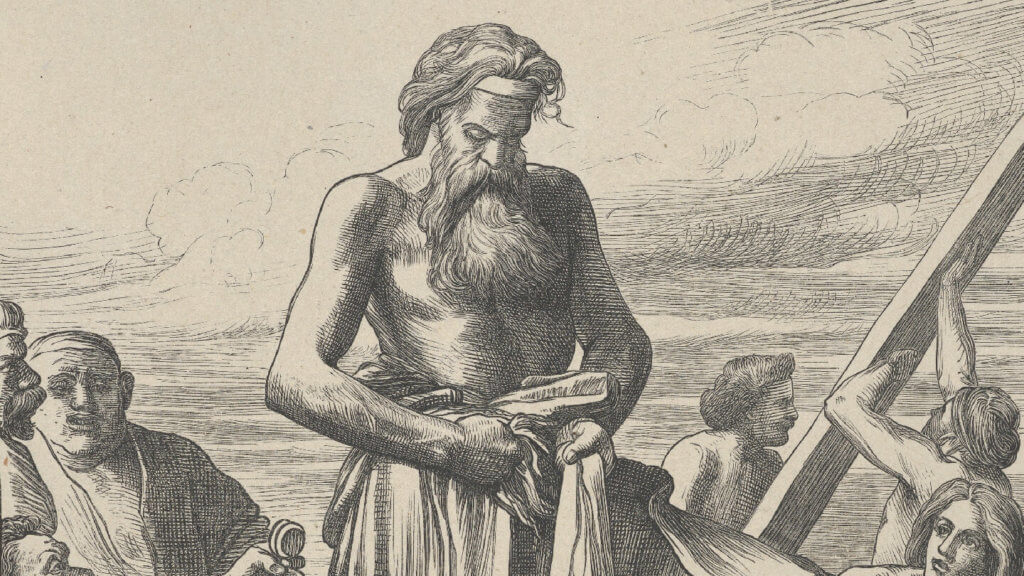 Noah Building the Ark (Dalziels' Bible Gallery) | Parashat Bereshit